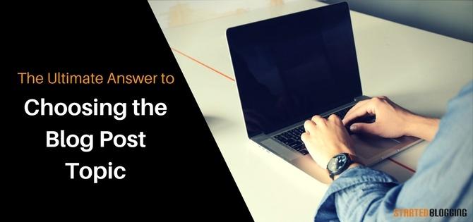 choose blog post topic