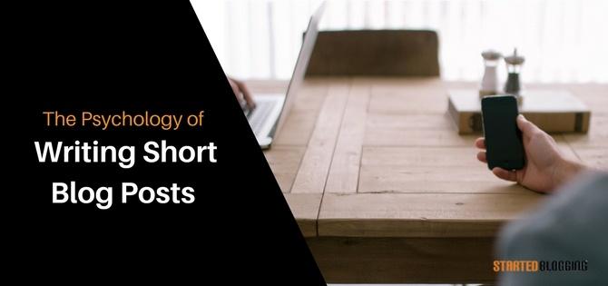 Writing Short Blog Posts
