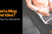 need blog post ideas?