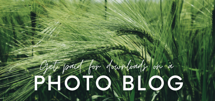 Get Paid for Downloads on a Photo Blog [A Niche Site Idea]